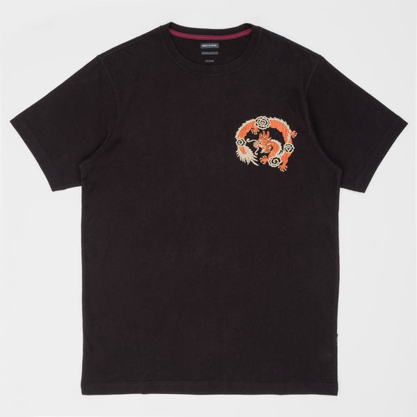 Maharishi Souvenir Organic T-Shirt - Black - Front - Off The Hook Montreal