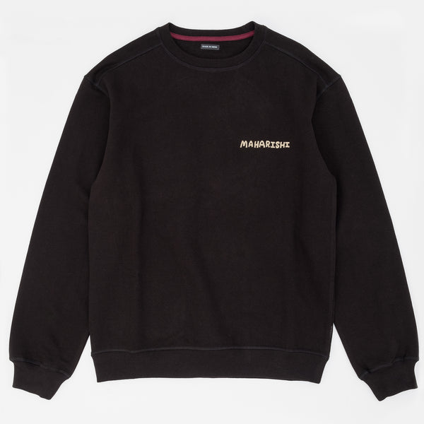 Maharishi Souvenir Organic Crew Sweatshirt - Black - Front - Off The Hook Montreal
