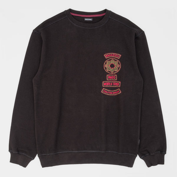 Maharishi World Tribe Organic Crew Sweat - Black - Front - Off The Hook Montreal