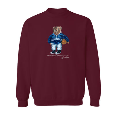 MehrathonMEH20FL407-MAR Bearathon Crewneck Maroon front available at off the hook montreal