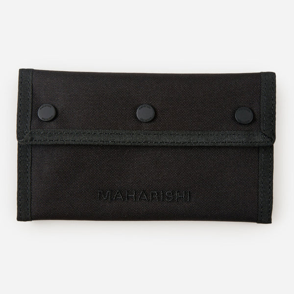 Maharishi 9111 Tobacco Pouch Nylon Black front view available at off the hook montreal