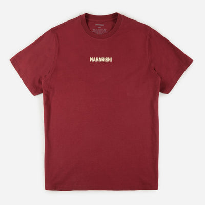 Maharishi 9231 Cultura Cat Organic T-shirt Lama Red front view available at off the hook montreal