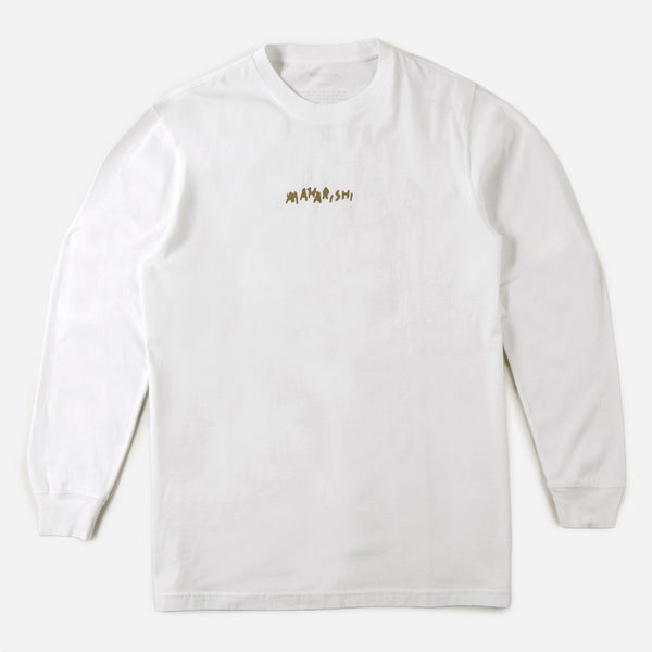 Maharishi 9238 Dragons Journey L/S T-shirt White front view available at off the hook montreal