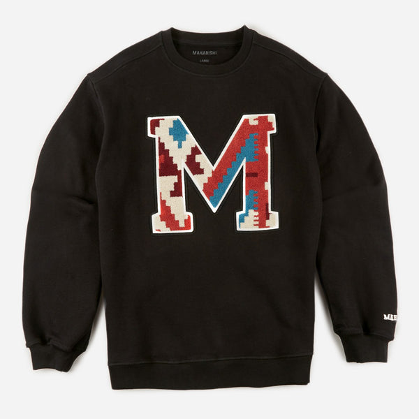 Maharishi 9228 MA20 Crew Sweat Organic Black front view available at off the hook montreal