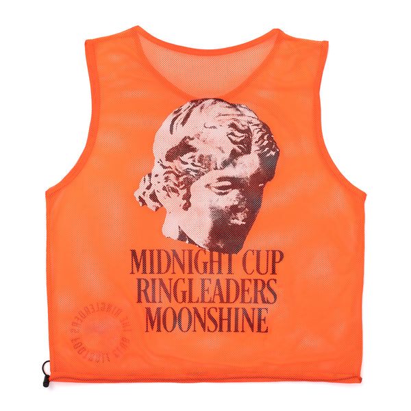 RINGLEADERS Midnight CUP II Mesh grocery Tote Bag Bib - Orange - Front - Off The Hook Montreal