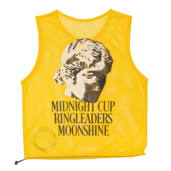 RINGLEADERS Midnight CUP II Mesh grocery Tote Bag Bib - Yellow - Front - Off The Hook Montreal