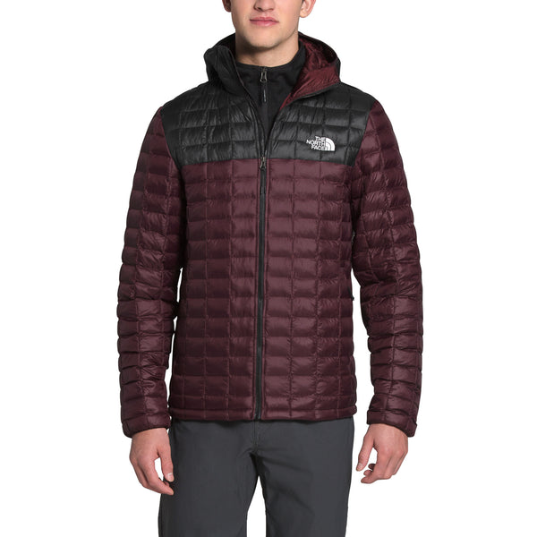 The North Face NF0A3Y3M Thermoball Eco Hoodie Black/Root Brown front available at off the hook montreal