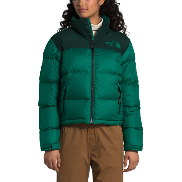 The North Face NF0A3YU5 Women Eco Nuptse Jacket Evergreen front available at off the hook montreal