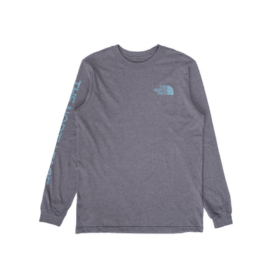 TNF Sleeve Hit LS - Heather Grey - Front - Off The Hook Montreal #color_heather-grey