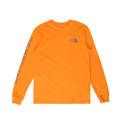 TNF Sleeve Hit LS - Front  - Collar - Off The Hook Montreal #color_orange
