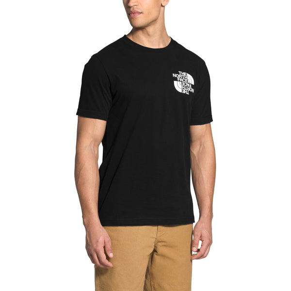 The North Face NF0A474Q S / S Double Dome Tee Black front disponible à off the hook montreal