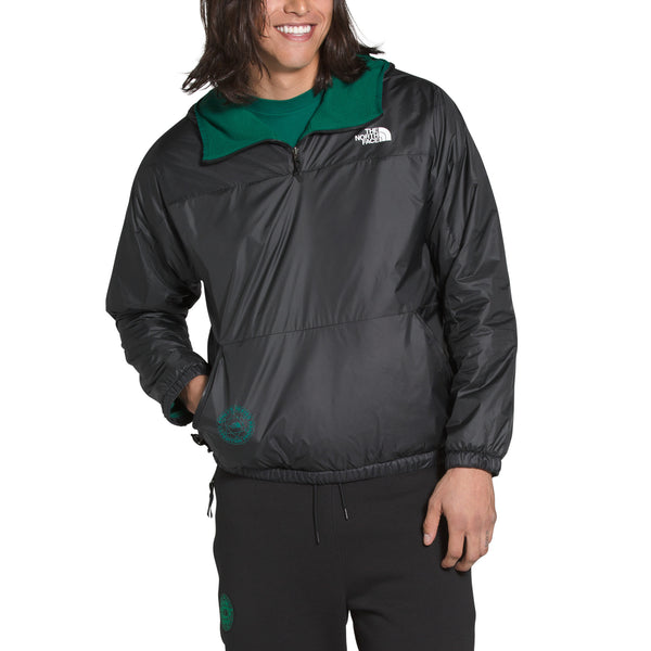 The North Face NF0A4ATH Graphic Collection Reversible Pullover Grey/Evergreen front available at off the hook montreal