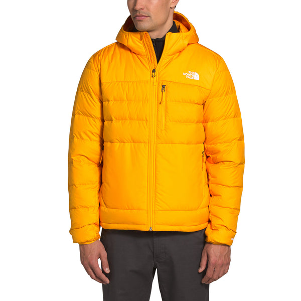 The North Face NF0A4R26 Aconcagua 2 Hoodie Gold front available at off the hook montreal