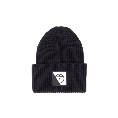 The North Face NF0A4VSS Black Series Mega Beanie Black - front view - available at off the hook montreal