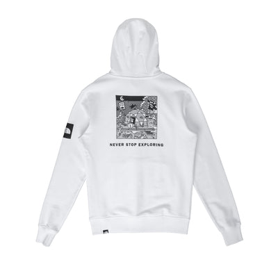 Black Box Hoodie Fleece NF0A557HJK3 - back - available at off the hook montreal #color_white