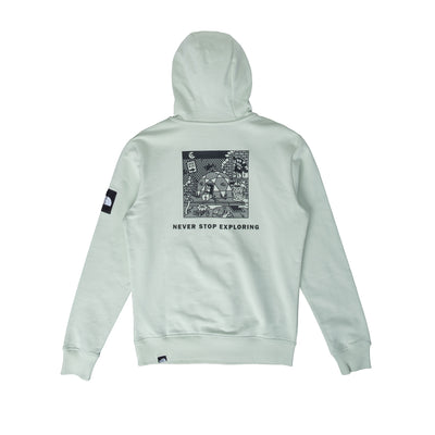 Black Box Hoodie Fleece NF0A557HV39 - back - available at off the hook montreal #color_green-mist