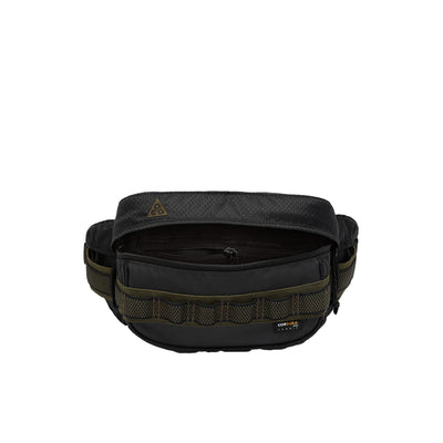 Nike ACG Karst Fanny Pack Black/Grey/Khaki front view open available at off the hook montreal
