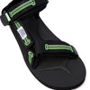 Aries and Suicoke launch their very first collaboration. The collaboration sees Aries take on the Suicoke Depa-Cab sandal model in the colour way; black with glow in the dark fluorescent green columns. The graphics are classic Aries designs and take inspiration from ancient Rome. The sandal has a Vibram sole renowned for its comfort, lightness and grip.  Product code: OG022 japan japanese streetwear tech off the hook oth boutique canada montreal