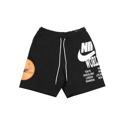 Nike sportswear French Terry Shorts - Black - Front - Off The Hook Montreal #color_black