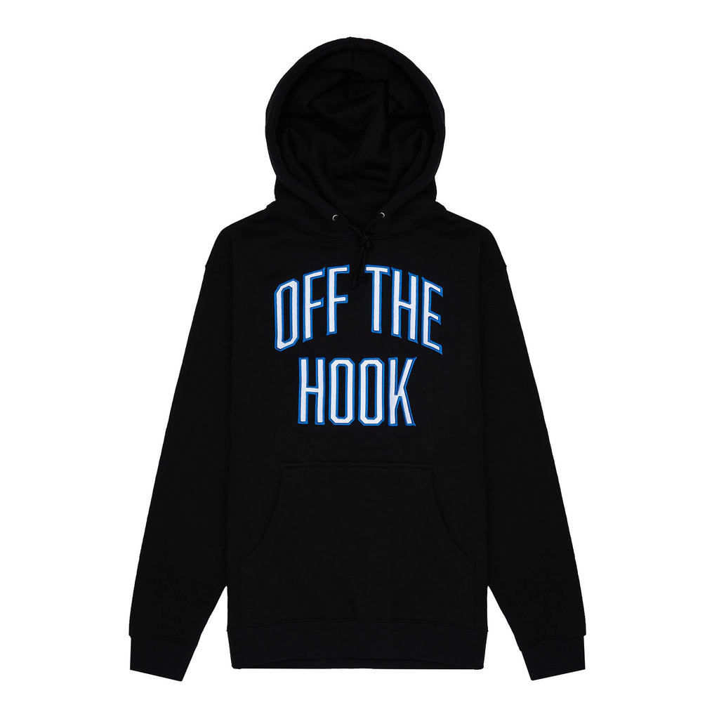 Inspired by the timeless university hoodie we grew up with, this specific one is a memento of the tight links between academia and sports. While we aren't planning on founding a school anytime soon, we do follow the philosophy where anything we can bring an OTH touch to, we will.  Product code: VARHOOD-BLK OTH Varsity Pullover Hoodie Black off the hook oth streetwear boutique canada montreal