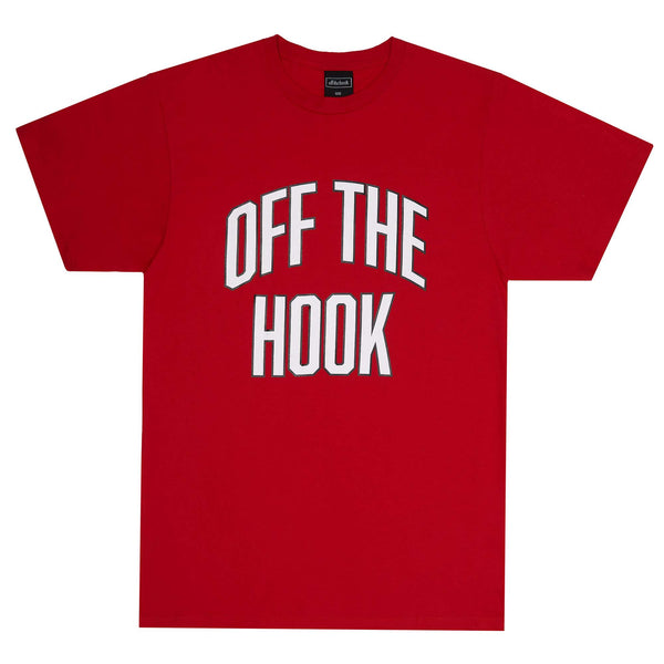 This classic cotton T-Shirt with varsity lettering will make you feel like you're part of some fraternity/sorority. So if like many of us you've dreamt of living that stereotypical varsity college life, this shirt is for you.  Product code: VARSHIRT-RED red off the hook oth streetwear boutique canada montreal t-shirt t shirt