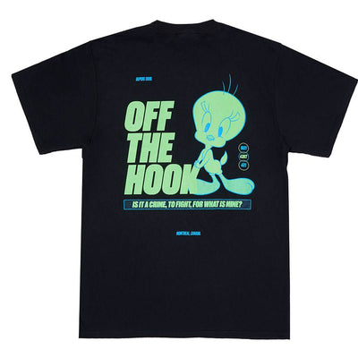"Off the hook ACIDRAVE001 Tweety ""Acid Pack"" T-Shirt Black - back view - available at off the hook montreal"