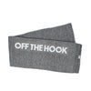by OTH OTHSCARF002-CHARBON OTH Écharpe Charcoal - détail logo - disponible chez off the hook montreal