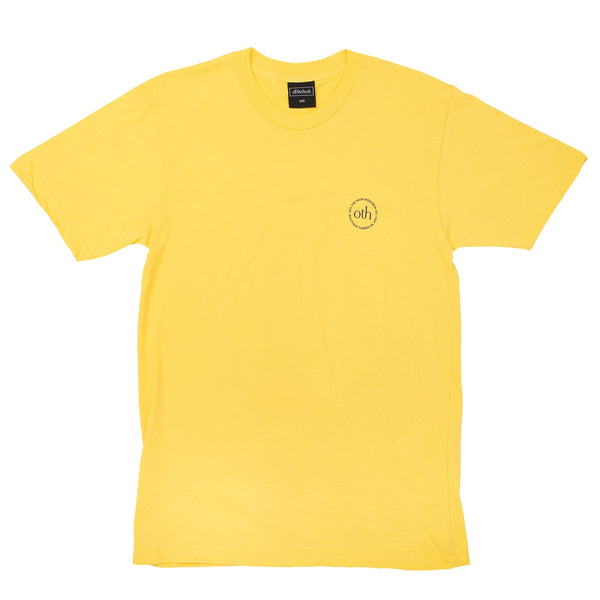 This short sleeve is part of the OTH 3.0 collection. It is made of 100% cotton and features a silkscreen logo on the left chest.  Product code: OTH3P0-YLW yellow off the hook oth streetwear canada montreal