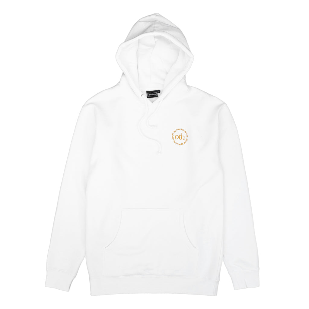 by OTH OTH3.0 HOMME-BLANC OTH 3.0 Hoodie White - vue de face - disponible à off the hook montreal