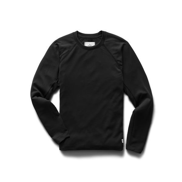Reigning CHamp RC.3702 Knit Deltapeak 165 Long Sleeve Black - front - available at off the hook montreal