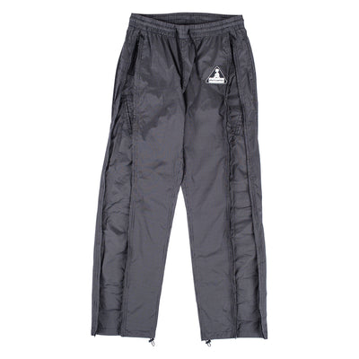 "Rip stop nylon track pants  Adjustable waist w/ draw cord  Adjustable bottom opening w/ toggle  Two exterior pockets  four Interior pockets  31"" inseam Full dual zip side leg opening Product code: P20SPCUT005 Brick Tech Track Pants Black off the hook oth streetwear boutique canada montreal pleasures"