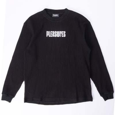 Pleasures Strife Thermal LS - Black - Front - Off The Hook Montreal #color_black