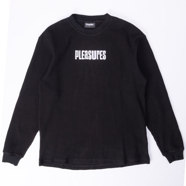 Pleasures Strife Thermal LS - Black - Front - Off The Hook Montreal