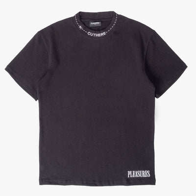 Pleasures Cut Here Heavy Weight T-Shirt - Black - Front - Off The Hook Montreal #color_black