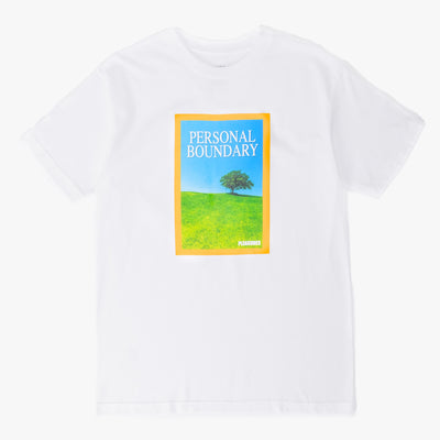 Pleasures Boundary T-Shirt - White - Front - Off The Hook Montreal
