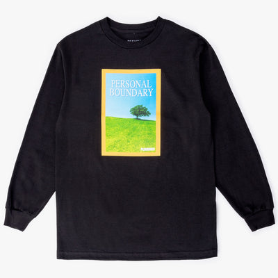 Pleasures Boundary Long Sleeve T-Shirt - Black - Front - Off The Hook Montreal