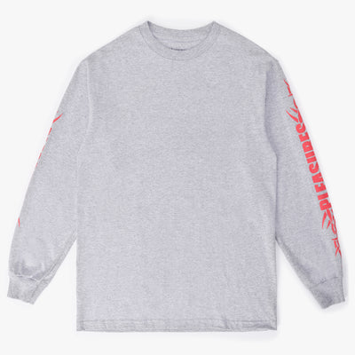 Pleasures Logo LS T-Shirt - Heather Grey - Front - Off The Hook Montreal #color_heather-grey
