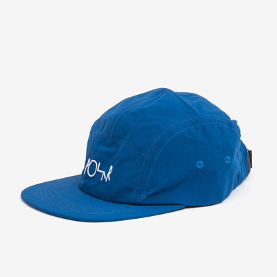 The Lightweight Speed Cap in Blue from Polar Skate Co  is an unstructured 5-panel, constructed from a think windbreaker material. It has a low crown, and comes with a flat brim.  100% Polyamide Crinkly textured fabric Made in Poland Product code: POLSP20049 off the hook oth streetwear boutique canada montreal