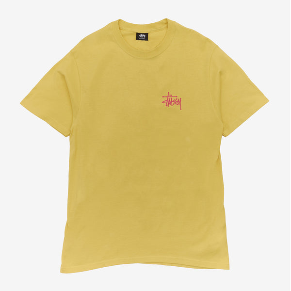 Stussy 1904578 Peace Pot Tee Lemon front available at off the hook montreal
