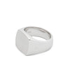 The simple cut of this silver ring gives it a modern expression with satin finish on the top plate. It is chunky and bold with curves that secure a tight and graphic look.  Product code R75HR-NA Cushion Satin Ring off the hook oth streetwear boutique canada montreal jewelry