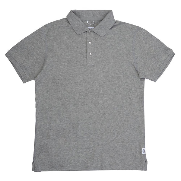 Knit Athletic Pique Polo Heather Grey