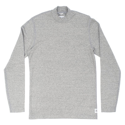 Reigning champ RC-2158 Knit Brushed Interlock High Neck Pullover Grey - front - available at off the hook montreal