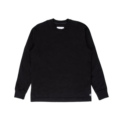 Reigning Champ RC-2192 Knit Midweight Jersey Relaxed Longsleeve - black - front - available at off the hook montreal #color_black
