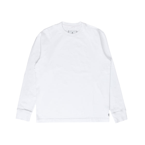 Reigning Champ RC-2192 Knit Midweight Jersey Relaxed Longsleeve - white - front - available at off the hook montreal #color_white
