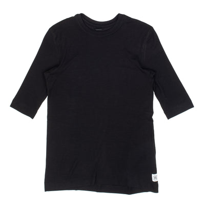 Reigning Champ Knit Modal Ribbed T-Shrit - Black - Front - Off The Hook Montreal