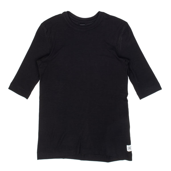 Knit Modal Ribbed T-Shirt W Black