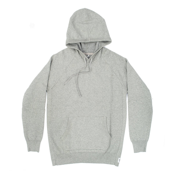 Reigning champ RC.6003 Machine Knit Terry Engineered Pullover Hoodie Heather Grey - front - available at off the hook montreal