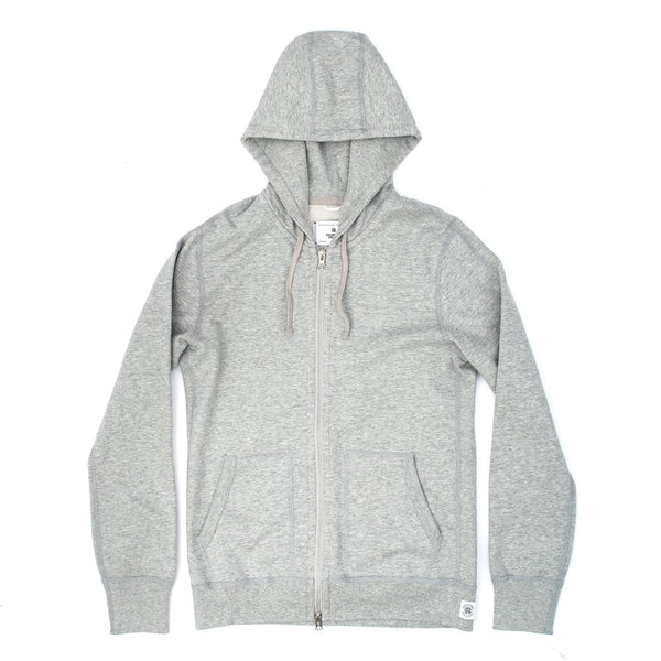 Reigning Champ RC3543 Knit Lightweight Terry Full Zip Hoodie Grey - front - available at off the hook montreal
