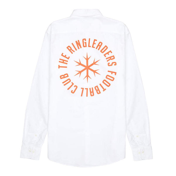 RINGLEADERS Meme pas peur Oxford Shirt - White - Back - Off The Hook Montreal