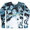 "Ringleaders Many Mainichi, Sweet Nothings capsule collection  Maradona's private rehab stint during the early 2000s in Fidel Castro's Cuba. Shostakovich's ""ballet of the masses"" makes an appearance on this compression long sleeve T-Shirt that features a still from Maradona's farewell press conference.  100% polyester Compression fit Product code: 210000050236 off the hook oth streetwear boutique canada montreal"